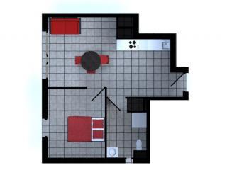 Appartement T2 43.50 m² avec terrasse