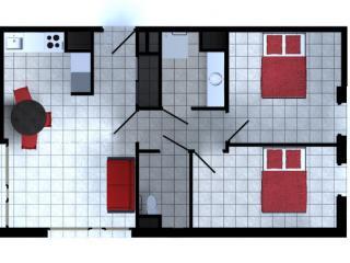 Appartement T3 59 m² avec terrasse
